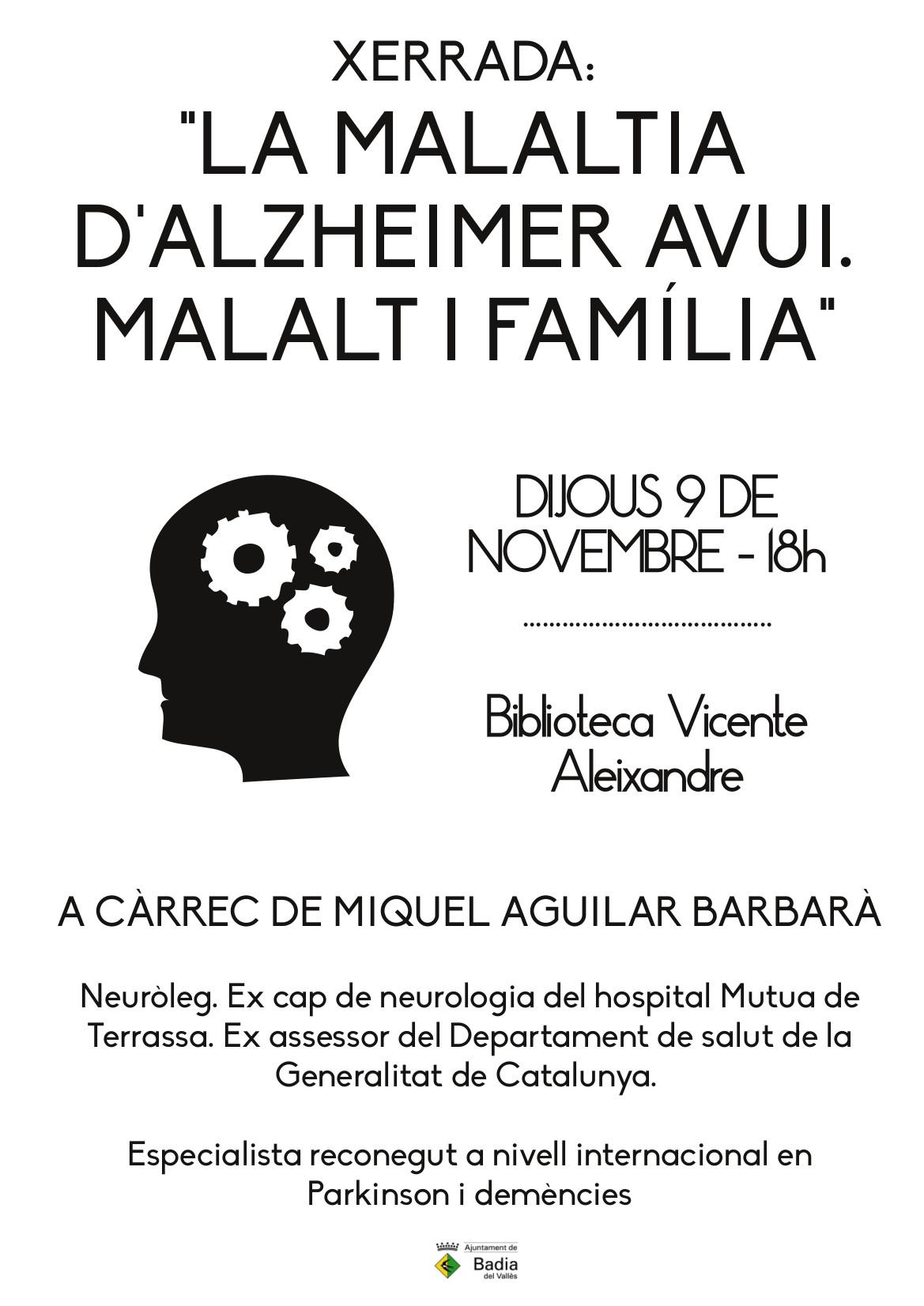 Cartell Xerrada sobre l'Alzheimer